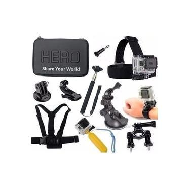 Kit para Gopro Xiaomi SJCAM Sony Xtrax e as demais câmeras de ação Mala Média Impermeável