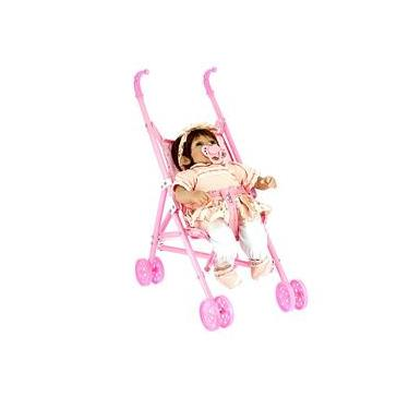 Imagem de Carrinho Infantil de Boneca Dobrável de Passeio para Menina
