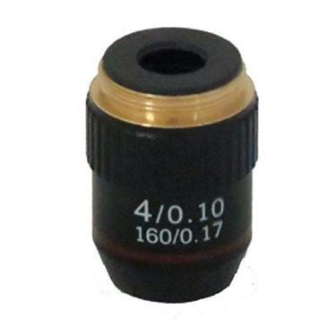 Objetiva Acromática Finita 4X para Microscópio Biológico