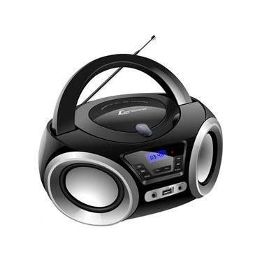 Rádio Portátil Lenoxx Boombox Bluetooth, Rádio FM e CD Player - 5W
