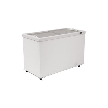 Freezer Horizontal Esmaltec com Tampa de Vidro para Sorvetes e Congelados 464 Litros ANF400