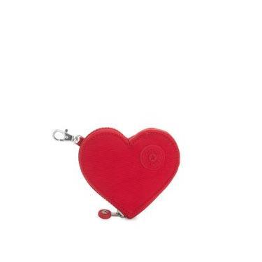 Porta-Moedas Kipling Heart S KH Pouch - Vermelho