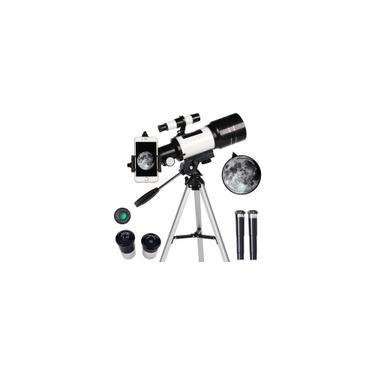 Imagem de F30070M 70mm Abertura 300mm Refrator Astronômico Telescópio Astronômico Tripé Finder Scope- Telescópio Portátil de Viagem