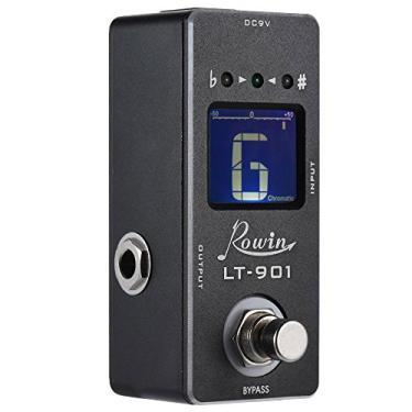 Imagem de Sintonizador, Romacci Efeito do pedal de afinador de guitarra minicromática True Bypass LCD Display