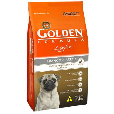 Ração Seca PremieR Pet Golden Formula Cães Adultos Light Mini Bits Frango e Arroz - 10 Kg