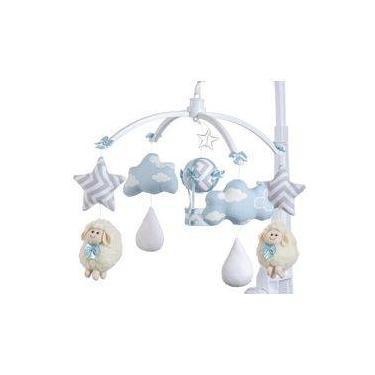 Móbile para berço musical e giratório Ovelhinha Azul