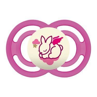 Chupeta Mam Perfect Night Silicone Silk Touch 6+ Meses Girls Desenhos Sortidos 1 Unidade Ref:2898
