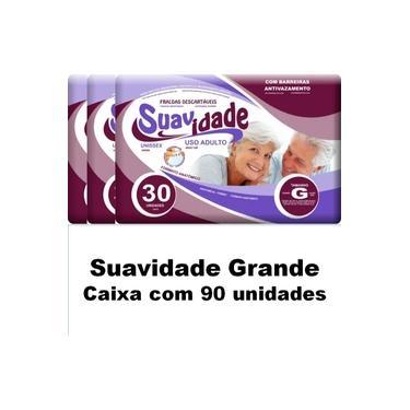 Imagem de Kit 3 Pacotes De Fraldas Geriátricas Suavidade G Total 90 Un