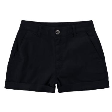 Shorts Alfaiataria cintura alta, Malwee, Femenino, Preto, 40