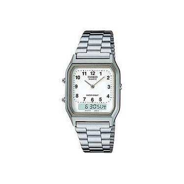 4bd880a9696 Relógio Feminino CASIO Analógico Digital Social AQ-230A-7BMQ