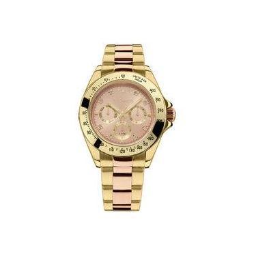 302a96d7acc Relógio Technos Dourado E Rose Feminino Elegance Ladies Multi-função  6p29aiu 5t