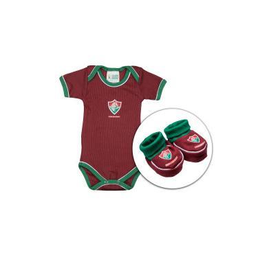 72432fb9e0 Kit de Uniforme de Futebol do Fluminense para Bebê  Body + Pantufa -  Infantil -