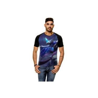 Camiseta Raglan League Of Legends Anivia Gelo Sombrio Masculina
