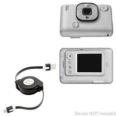 Cabo Fujifilm Instax Mini LiPlay, BoxWave [miniSync] retrátil, cabo de sincronização portátil para Fujifilm Instax Mini LiPlay