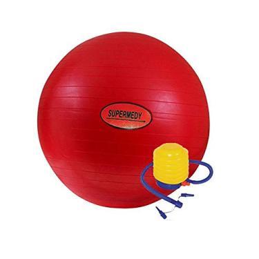 Bola de Pilates 45 cm Vermelha c/Bomba Supermedy
