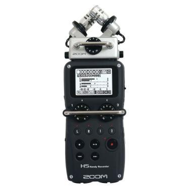Gravador Digital Zoom H5 4 Canais + Case + Acessórios + 2GB - Preto