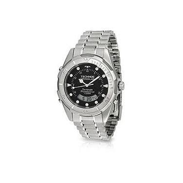 7d0fcf6085419 Relógio Analógico Masculino Cronógrafo e Alarme em Aço - ref. T20557 1P -  Technos