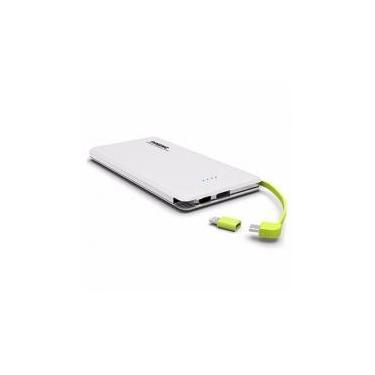 Carregador portatil pineng 5000mah slim branco compativel iphone 6, 7 e 8 plus -
