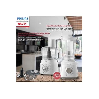 Imagem de Liquidificador Philips Walita RI2113 Jarra Duravita 700w + Multiprocessador de Alimentos Philips Walita RI7630 600w Branco