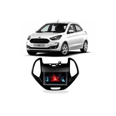 Central Multimídia Ford Ka 2019 a 2021 Espelhamento iOS Android 7 Polegadas BT USB