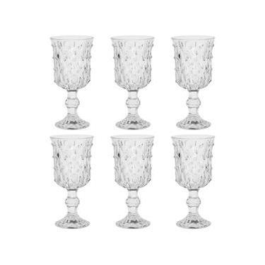 Jogo de taças em vidro Casambiente Gotas 210ml 6 peças Casambiente