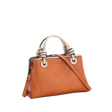 Bolsa Feminina Chenson Detalhe Dourado Transversal Caramelo 3482985  feminino