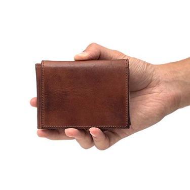 Carteira Masculina Em Couro Com Porta Cartão Fóssil - Fóssil - Tamanho Único