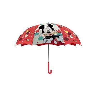 Guarda Chuva Mickey Mouse 50cm Infantil Menino Inverno
