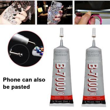 Imagem de Cola adesiva multiuso b7000, resina epóxi para reparo de celular, lcd com touch screen, super cola b