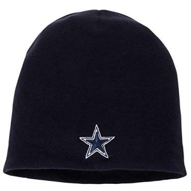 Gorro de malha Fanatics NFL Dallas Cowboys Gorro de esqui meia de futebol americano azul-marinho