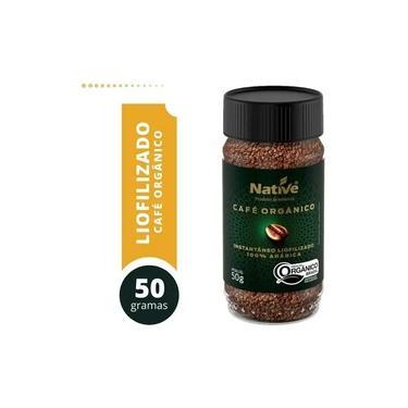 Café Orgânico Instantâneo Liofilizado Native 50g - 100% ARÁBICA