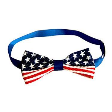 SOIMISS 4 pcs Padrão de Bandeira Americana Coleira de Gravata para Cachorro de Estimação Criativo Confortável Anel de Pescoço de Animal de Estimação Coleira de Cão de Corrente Prática de Pescoço
