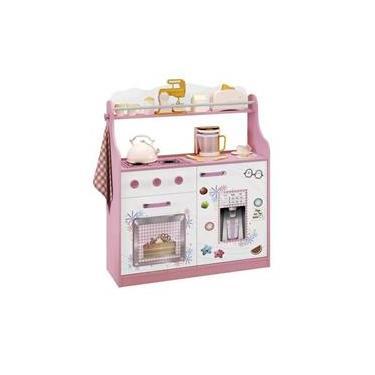 Imagem de Cozinha Infantil Rosa Porta Brinquedos Kitchen Móveis Estrela