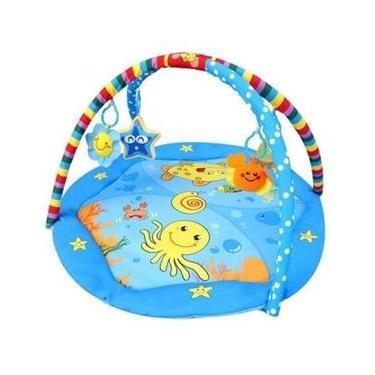 Imagem de Tapete Ginásio Confort Para Bebê Azul - Color Baby