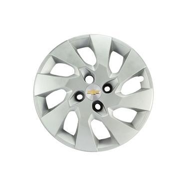 4x Calota Gm Onix Prisma Corsa Aro 15 com Emblema 195cp