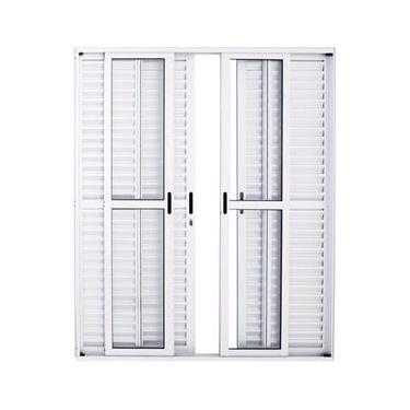 Porta De Alumínio De Correr Balcão 6 Folhas 210 X 200 Branca