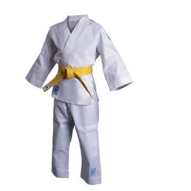 Kimono Adidas Infantil Branco Evolution - Branco/Azul claro
