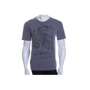 Camiseta Tng Gola Careca Estampada Cinza - M 7ea3f9b8adba7