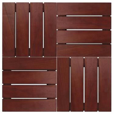 Deck de Madeira Modular Base Madeira Isabela Revestimentos 30cmx30cm (Placa) Imbuia