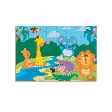 Imagem de Quebra Cabeça 48 PC Gigante Safari 8528 - Brincadeira De Criança