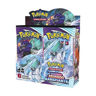 Imagem de Box 36 Boosters Cards Sortidos Pokémon Espada e Escudo Reino Arrepiante Copag - 85373