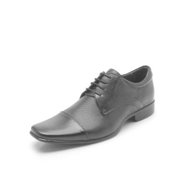 edab57035 Sapato Social Couro Rafarillo Texturizado Preto Rafarillo 34001-00P  masculino