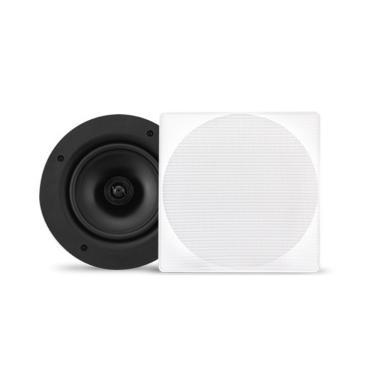 Caixa Acústica quadrada AAT NQ6-100 Woofer 6 100W RMS 8 Ohms Branco