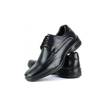 Sapato Social Masculino Ortopédico Linha Gel Lançamento Preto - 37 - Sapatofran