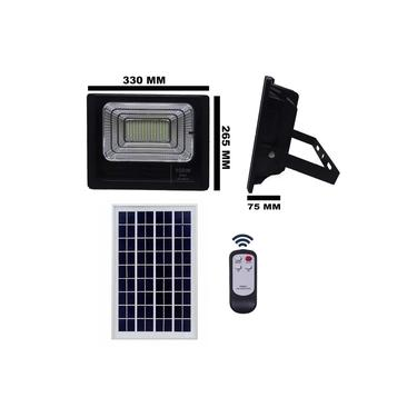 Refletor Holofote Led Solar Smd 100w 6500k(branco Frio)c/ Placa