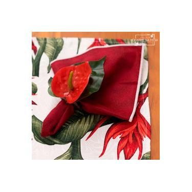 Imagem de Porta guardanapos de Flor Antúrio artificial