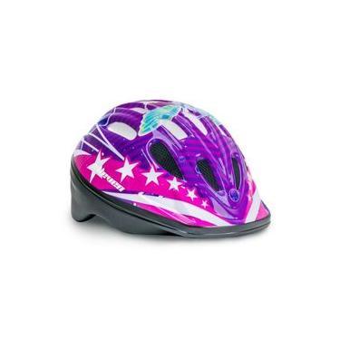 Capacete Infantil Elleven Feminino - Lilás Rosa Skate Patins Bike