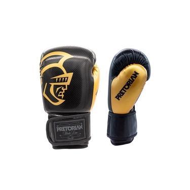 Luva de Boxe Pretorian Black Line - Preto e Dourado