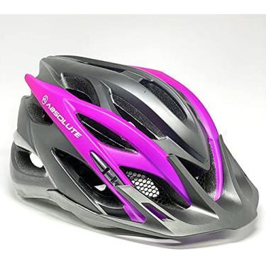 Imagem de Capacete Ciclismo Bike Feminino Absolute Wild Luna ((Preto com Pink M)