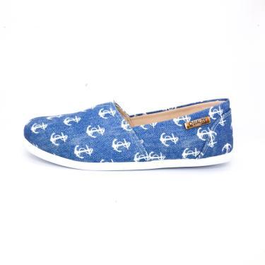 Alpargata Quality Shoes 001 Jeans Âncora Azul  feminino